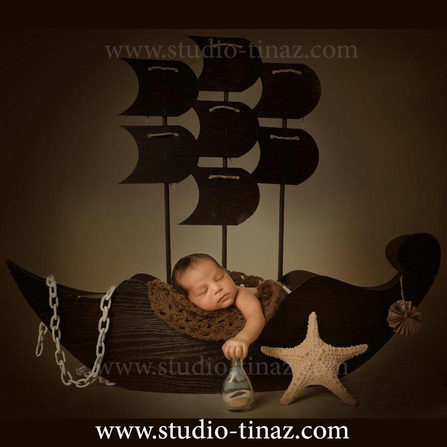 عکس نوزاد زیر 20 روز در آتلیه عکاسی تیناز