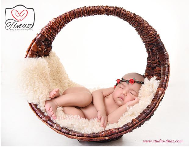 عکاسی نوزاد آتلیه تیناز