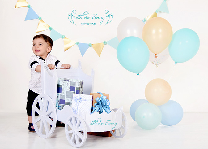عکاسی کودک تم تولد