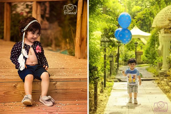 عکاسی کودک 2 ساله در فضای باز