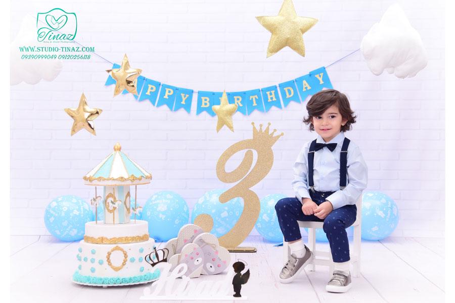 تم تولد پسرانه آتلیه کودک