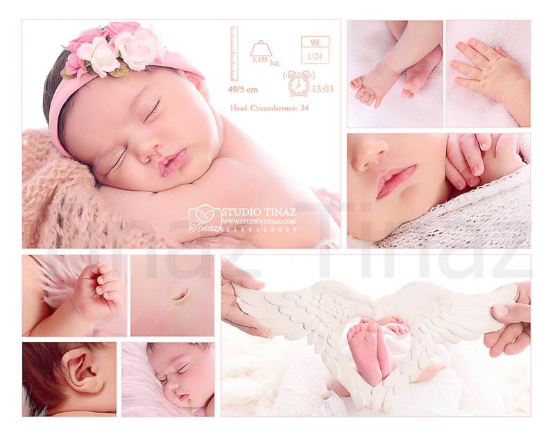 طراحی عکس نوزاد